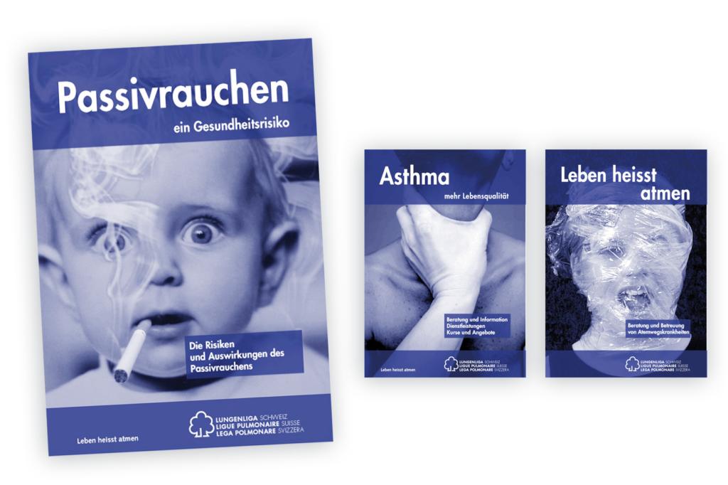 Plakate Lungenliga