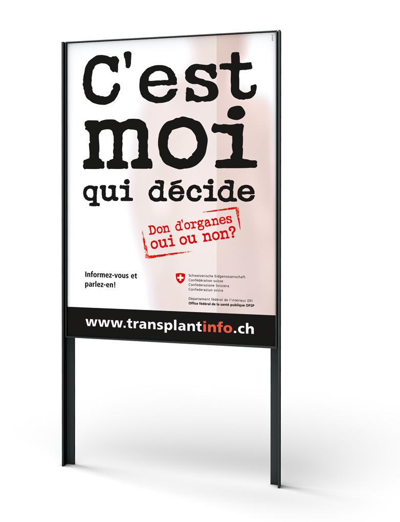 F4-Plakat Organspende-Kampagne, Bundesamt für Gesundheit