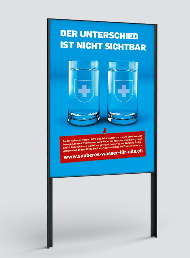Plakat F4, Kampagne «Sauberes Wasser für alle»