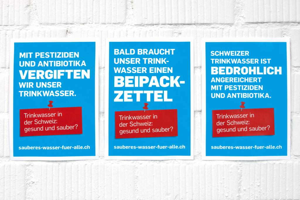 Plakate A4, Kampagne «Sauberes Wasser für alle»