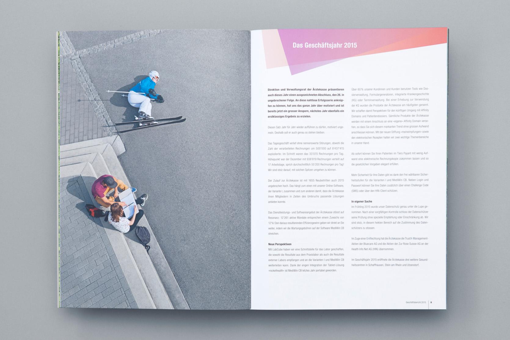 Ärztekasse Geschäftsbericht 2015