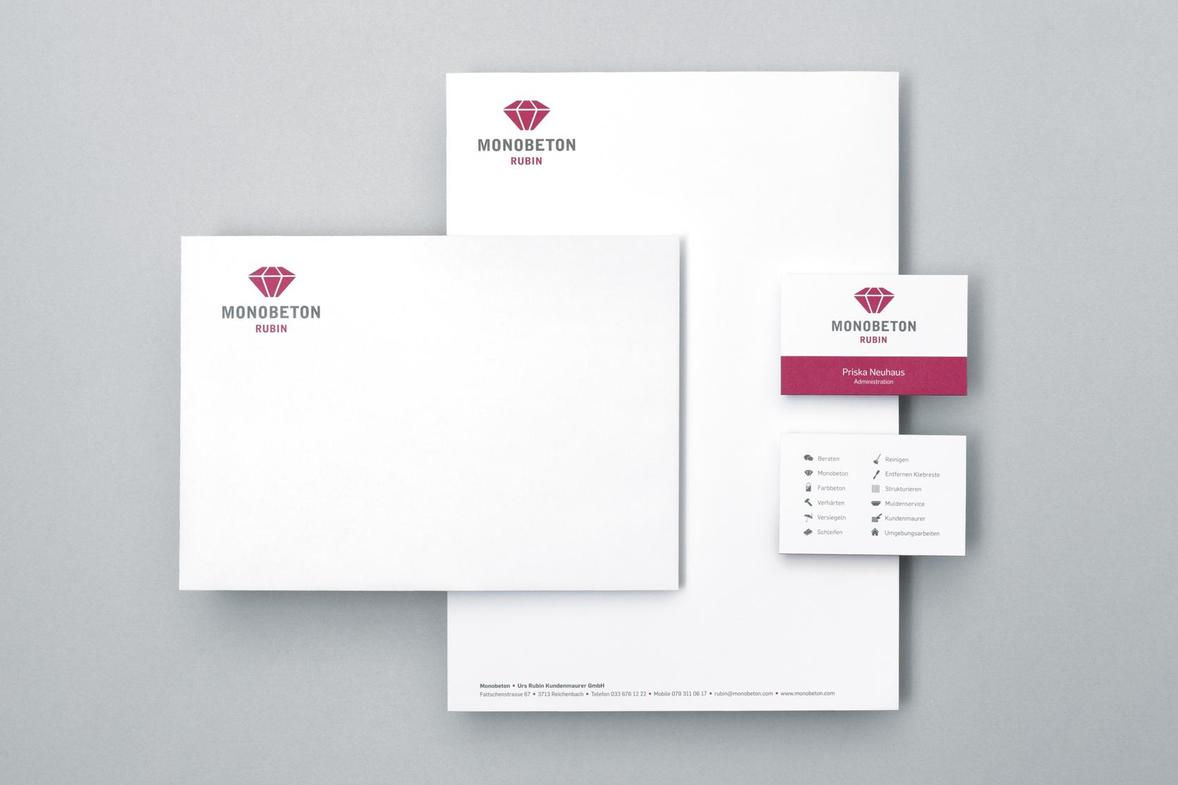 Briefschaften Monobeton