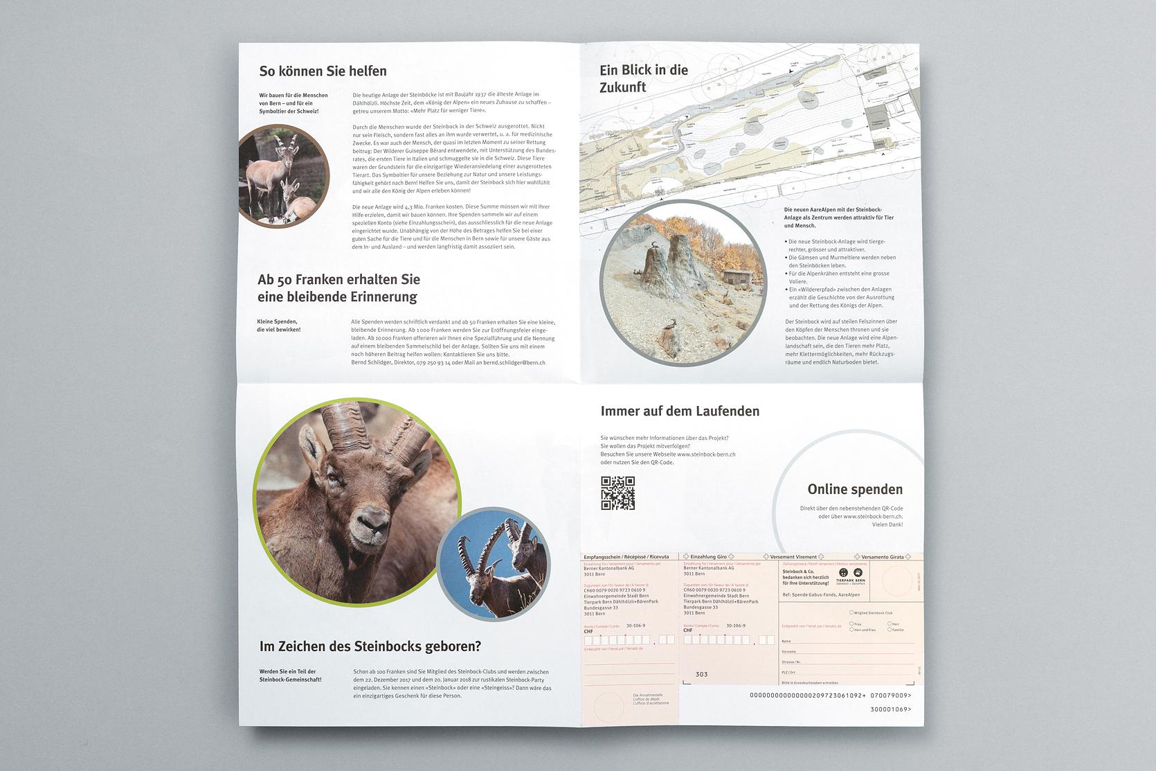 Zeitungsbeilage Fundraising Steinbockanlage, Tierpark Bern
