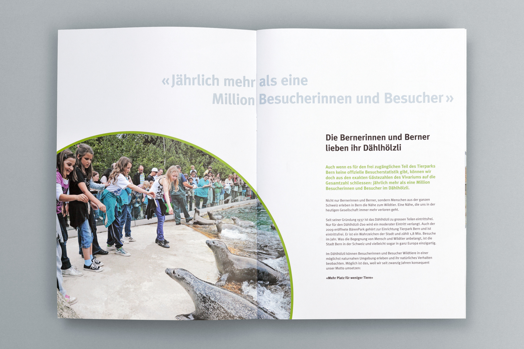 Imagebroschüre Fundraising Steinbockanlage, Tierpark Bern