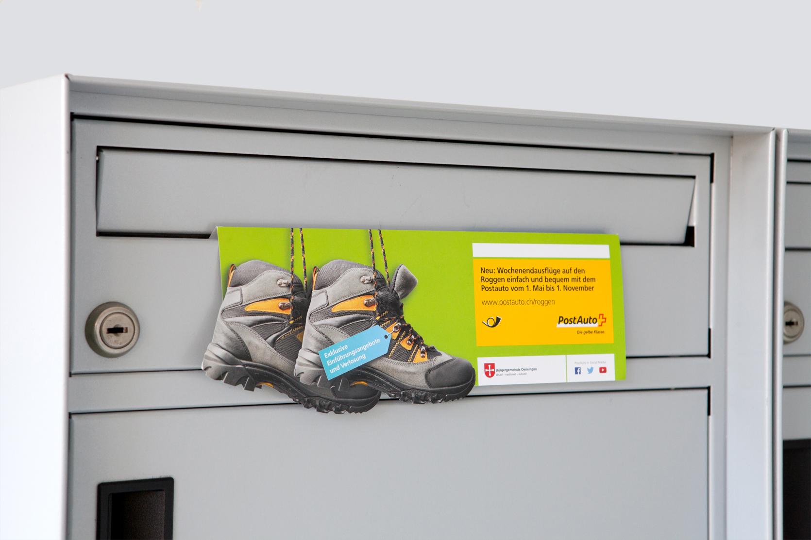 Direct Mailing Ausflug Roggen, PostAuto