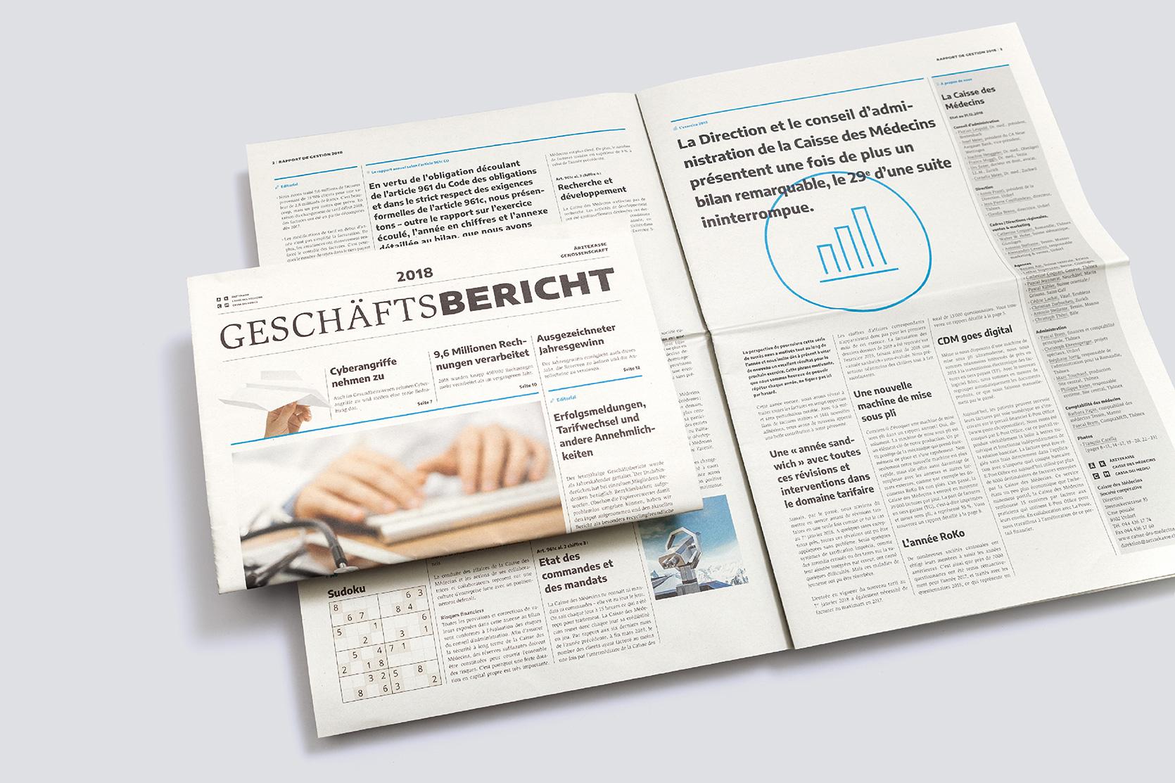 Ärztekasse Geschäftsbericht 2018