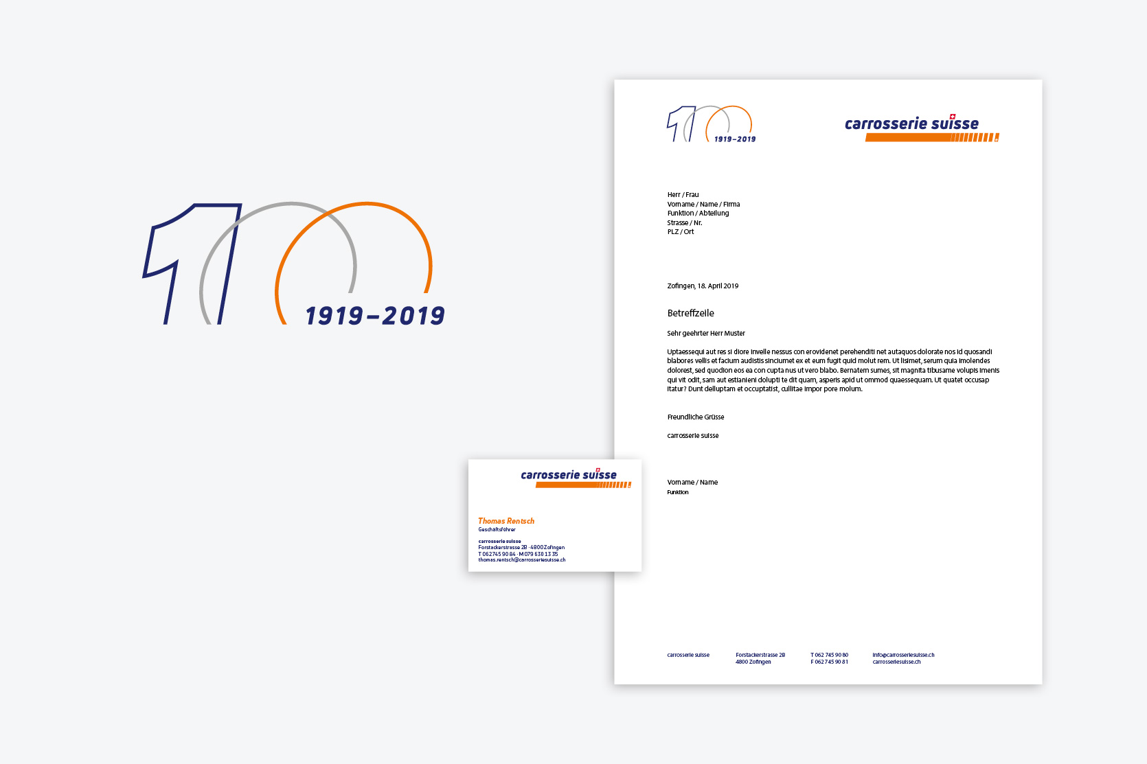 Briefschaften | Jubiläums-Logo